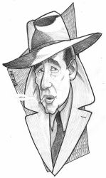 Humphrey Bogart by toongsteno