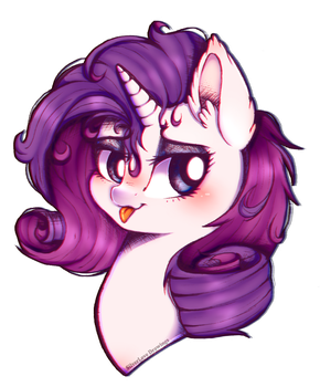 ( Commission ) Pretty Rarity by SilverLove234