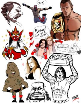 WWEsketchdump by vashperado
