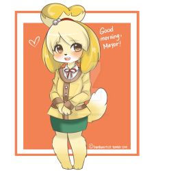 Animal Crossing New Leaf: Isabelle by Xx-Suigintou-xX