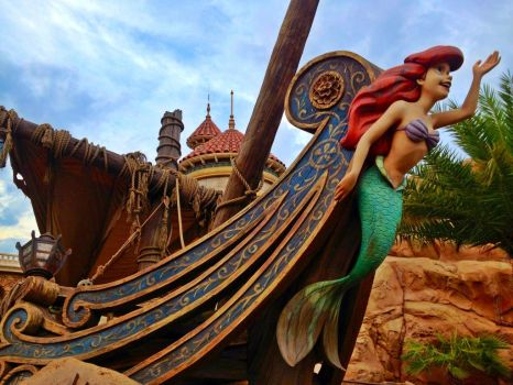 Little mermaid in New Fantasyland by The-AllSparkle
