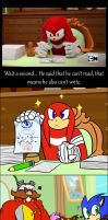Sonic Boom: Mistake in ''Mayor Knuckles'' by HoshiNoUsagi