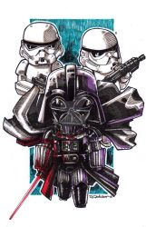 Darth Vader and friends! by Dve6