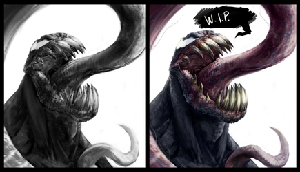 Venom warmup wip by joverine