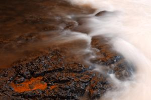 Burning Kolufoss Stream by somadjinn