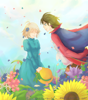 Howl's Moving Castle : Spring Breeze by alydicea