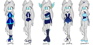 Diamon-Olimpic games outfits by WolfiMoons