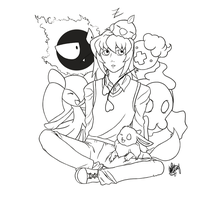 PKMN Trainer: Ryou -lineart- by Meeps