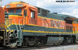 BNSF B408 8629 on Local Litchfield Illinois by EternalFlame1891