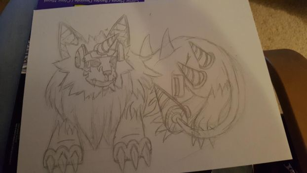 wip - Digimon - Dorulumon sketch  by Kitamon