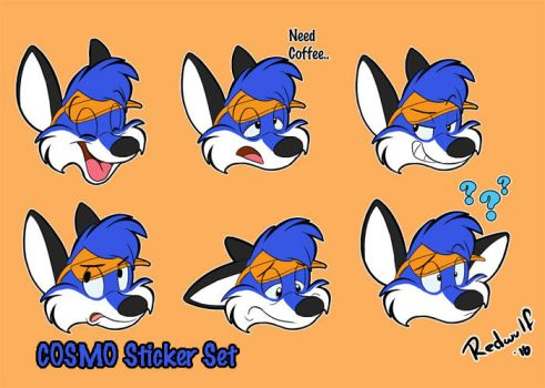 Telegram Stickers for Cosmo by redwulf