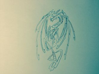 Tribal dragon drawing (filter 1) by MasterWolf99