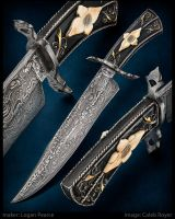 Floral Bowie Knife by Logan-Pearce