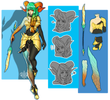 [C] Valent Character Design by Valkymie