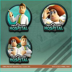 Two Point Hospital icons by BrokenNoah