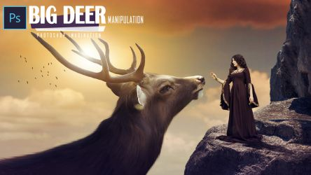 Fantasy Big Deer Photo Manipulation by Subhodeep80