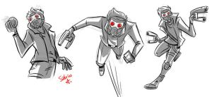 Star Lord Doodles by Sibsy