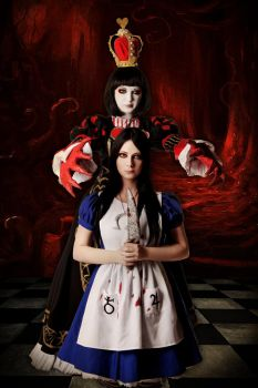 Alice Liddell and Queen of Hearts 6 by LucyIeech