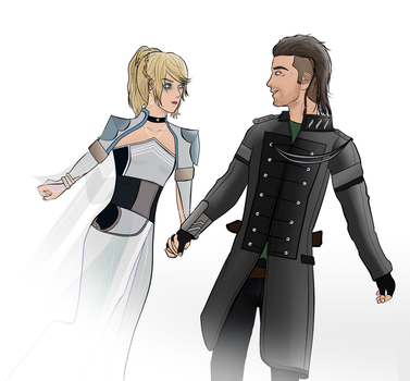 Kingsglaive: Luna and Nyx by Matt-Addison