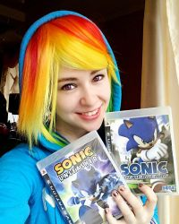 Rainbow Dash Sonic fan xD by RestlessMuse