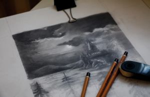 WIP Illustration of *Harry Potter* by Michelle-Winer