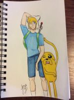 Finn and Jake by MandyLee-ML