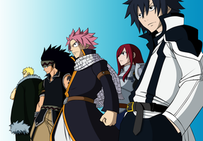 Fairy Tail Chapter 292 - Team Fairy Tail by Natsu9555