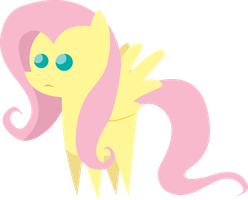 Little Not So Amused Fluttershy Figure by MikeTheUser