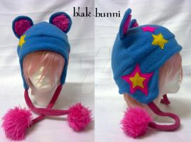 Star Bear Beanie Teal by BlakBunni