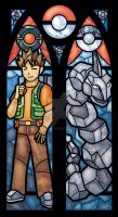 Brock and Onix Stained Glass Window Print