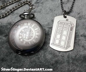 Tardis Watch and Pendant Set by SilverSlinger
