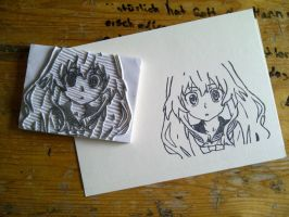 Aisaka Taiga - Rubber stamp by dunkleLamm