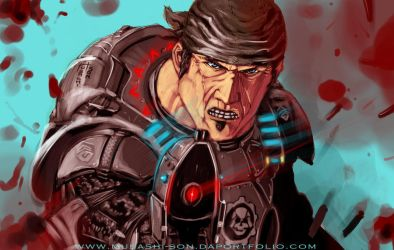Gears of War MARCUS by Musashi-son