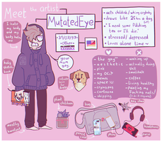 Meet the artist MEME #2 by mutatedeye
