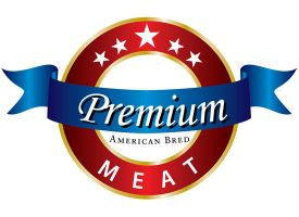 Premium Meat Logo by Click-Art