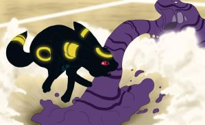Umbreon Dodges by Kumlay