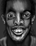 Ronaldinho portrait by PE-robukka