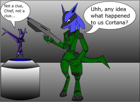 Master Chief As A Lucario by ZeroDevil