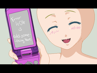 Pink phone :BASE: by milky-pixels