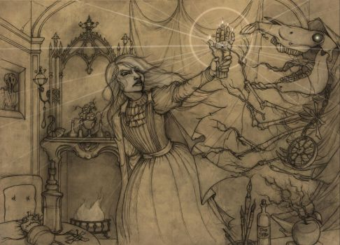 Hopeless, Maine RPG spread 4 pencils by CopperAge