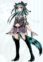 teal fox adoptable -closed- by YurisAdopts