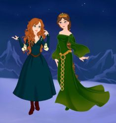 Merida and Elinor by M-Mannering