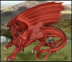 Welsh Dragon by DrakainaQueen