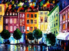 Rouen, France by Leonid Afremov by Leonidafremov