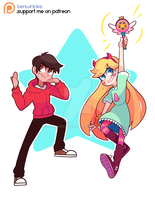 Star and Marco Commission! by MekaRanger
