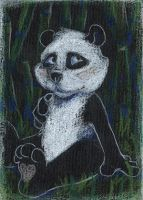Mr Panda Remake ACEO by uniquorned
