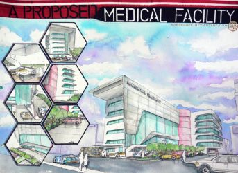 Contemporary Hospital Design in Watercolor by sabrelupe