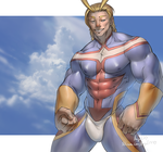 Allmight In Body Paint by Angel1227