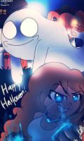 .:Happy Derpish-Ghoulish Halloween!: Contest Entry by viki12rocks