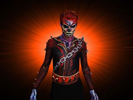 Ghost Rider BODYPAINT by NimblePixel